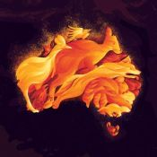 Illustrator Kerschbaumer Depicts the Australian Bushfire Tragedy
