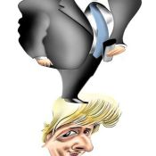 Knobel's Caricature of Boris Johnson Selected for AI 39!