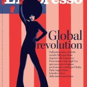 Ivan Canu's Cover for L'Espresso Magazine - Global Revolution