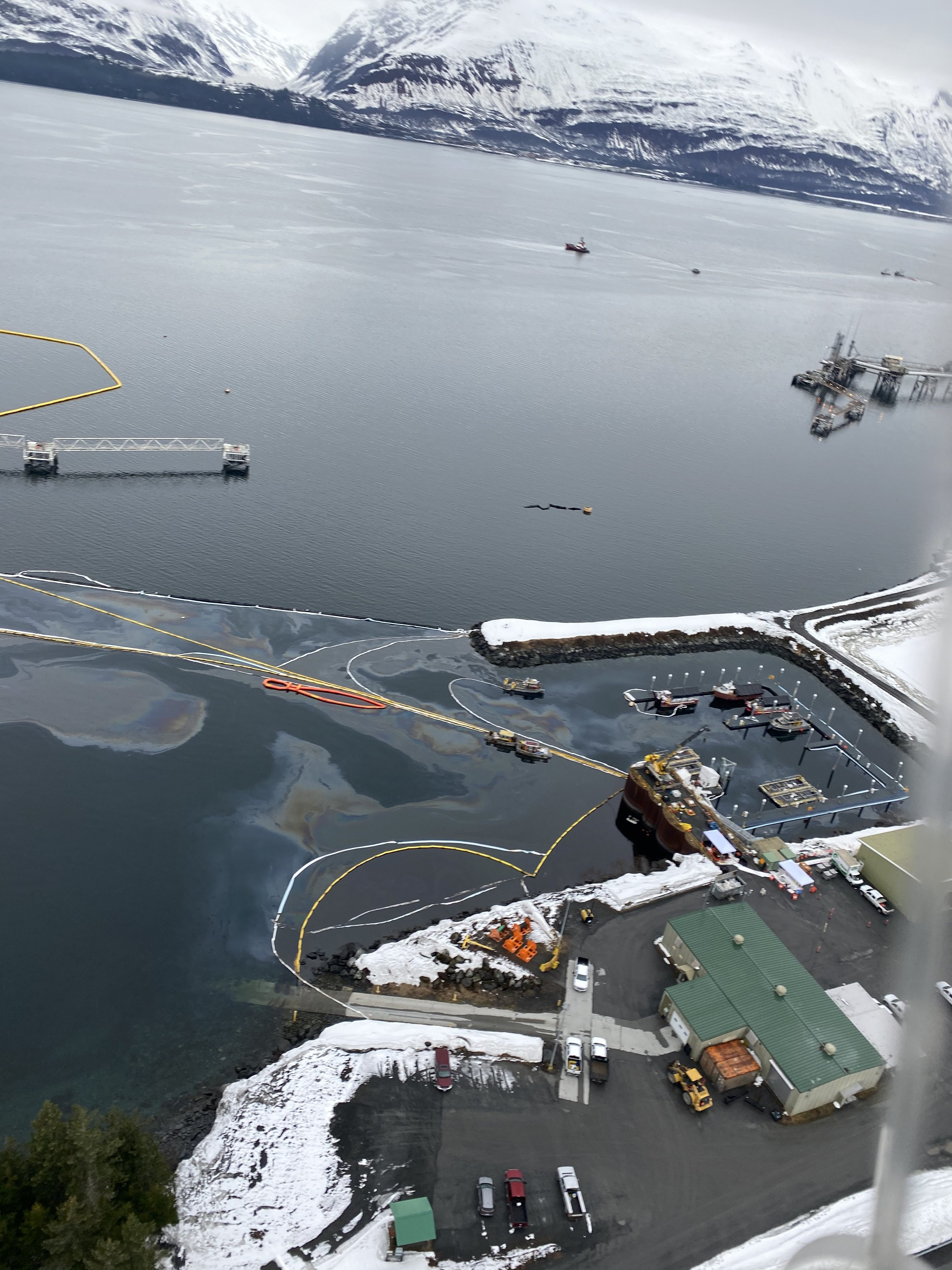 These photographs were taken during an overflight of the Valdez Marine Terminal on Wednesday, April 15.