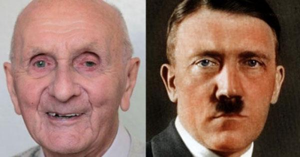 Imagen dividida al medio muestra el rostro del anciano que asegura ser Hitler y del propio Hitler.