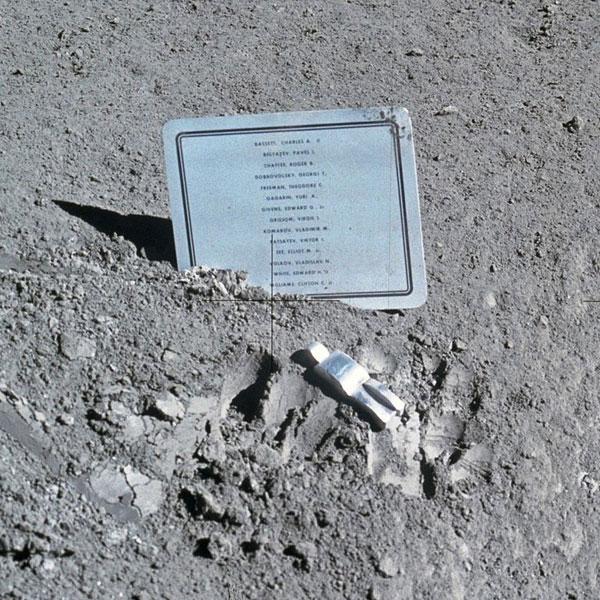 Obra de arte na Lua