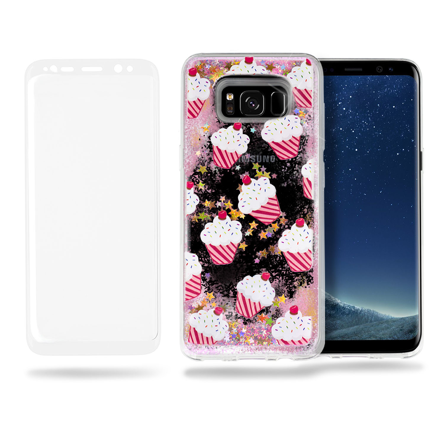SOJITEK Liquid Case Glitter TPU Bumper Case for Samsung Galaxy S8 Parent