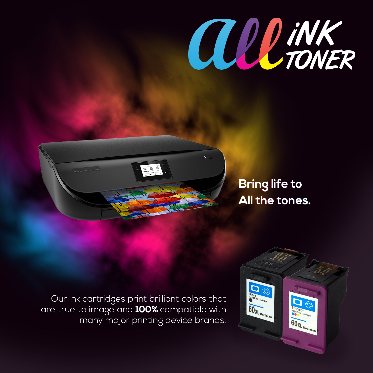 OFFICESMARTINK - CL31 Canon Cartridge Compatible [2 Pack] Color Ink Cartridge w/ Auto-Reset Ink for Canon PIXMA iP1800, iP2600, MP140, MP190, MP210, MP470, MX300, MX310