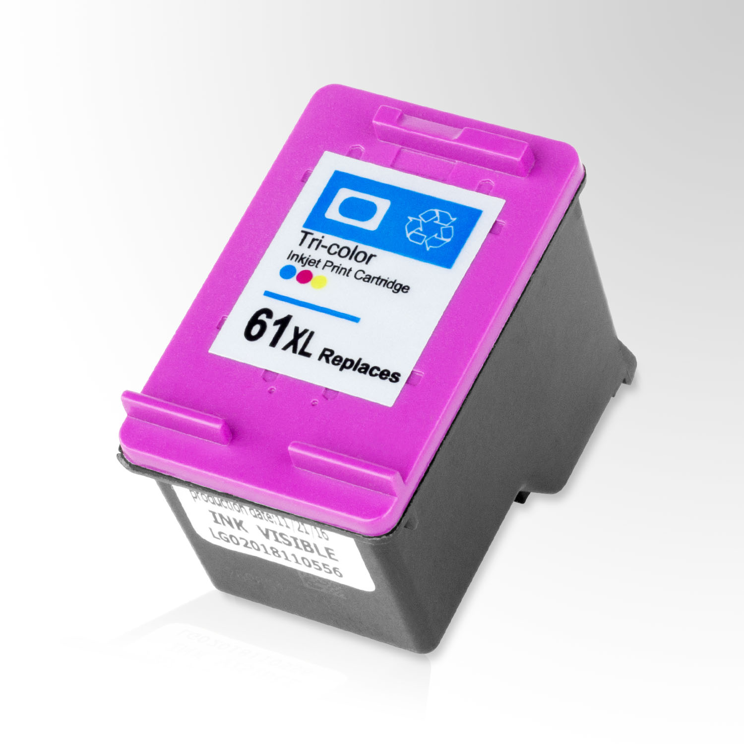 CH564HE / HP 61XL ALL-INK-TONER Remanufactured HP Printer Compatible Color  High Yield Replacement Cartridge w/ Auto Ink Level Reset - Tricolor 1PK