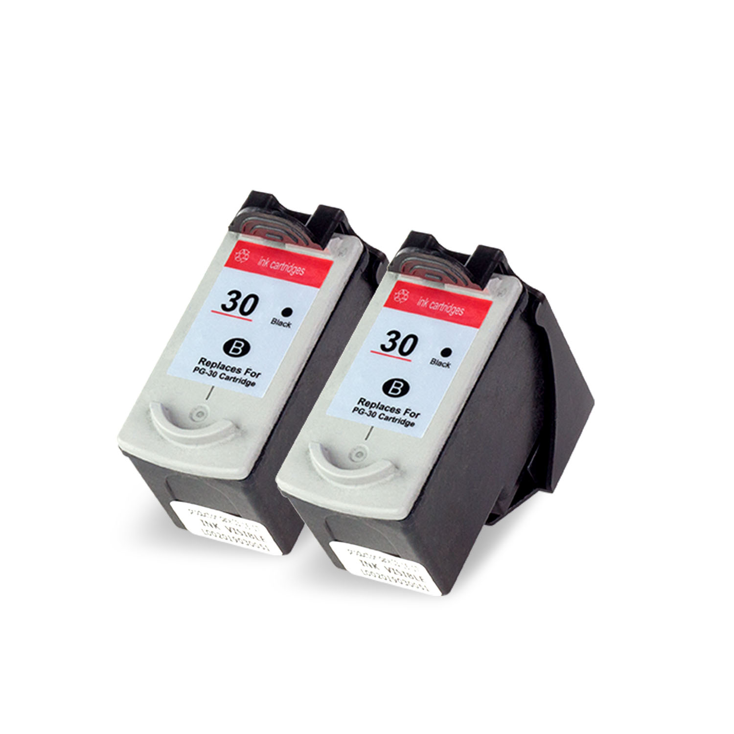 OFFICESMARTINK - PG30 Canon Cartridge Compatible [2 Pack] Black Ink Cartridge w/ Auto-Reset Ink for Canon PIXMA iP1800, iP2600, MP140, MP190, MP210, MP470, MX300, MX310