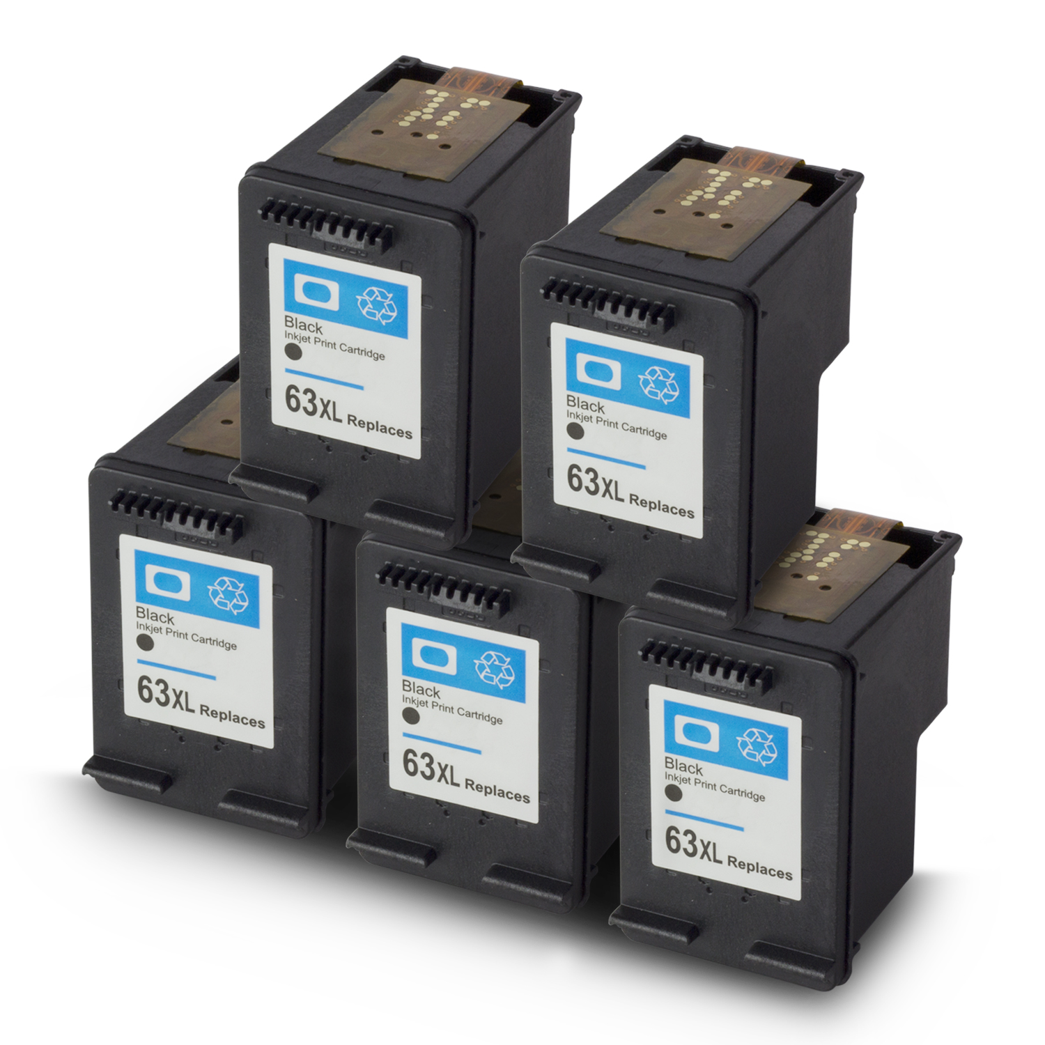 SOJIINK Remanufactured HP Replacement High Yield Black Ink Cartridge W Auto Level Reset