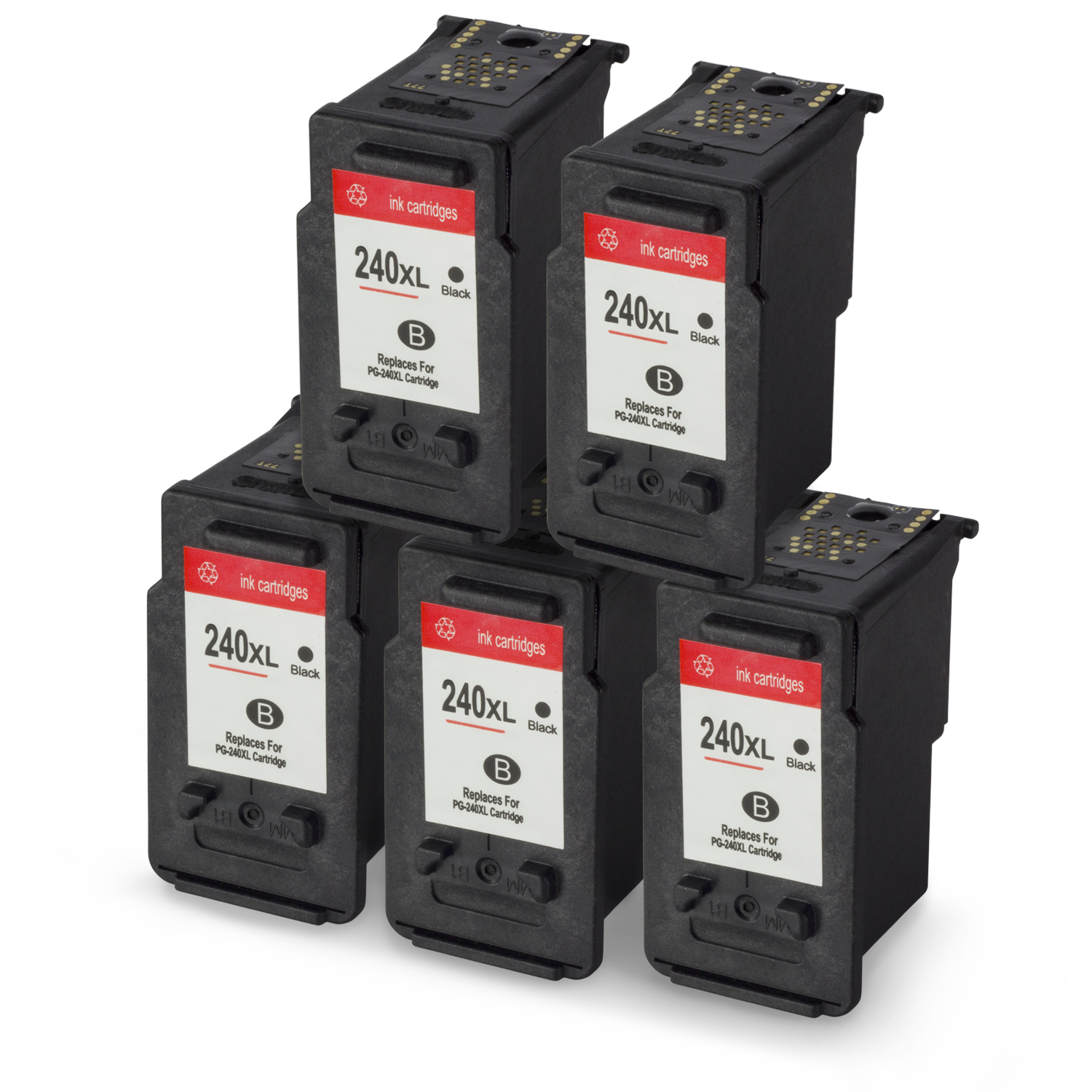 SOJIINK Remanufactured Canon Replacement High Yield Black Ink Cartridge W Auto Level Reset