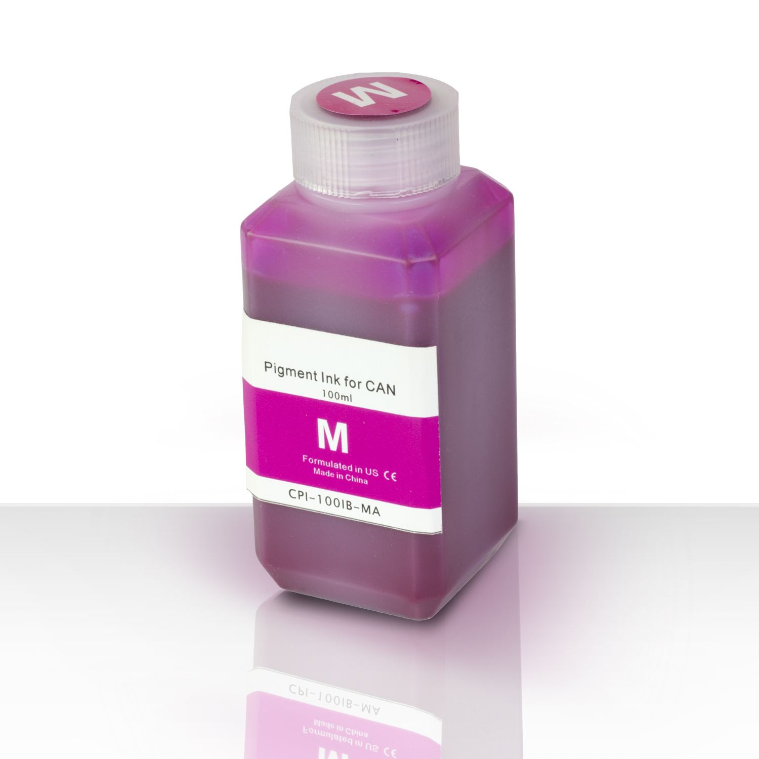 1 PK - Canon Compatible Magenta Pigment Refill Ink Bottle 100ML (3.38 fl oz) Bottle + Refill Tool Kit by SOJIINK