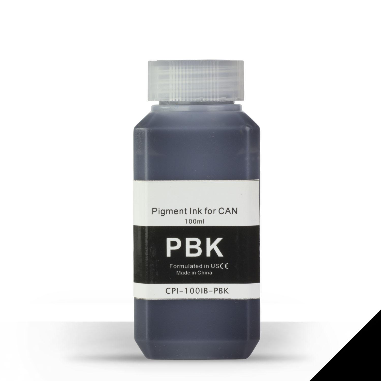 1 Bottle (100ml) Refill Ink - ALLINKTONER Canon Compatible PHOTO Black Pigment for Canon Printers