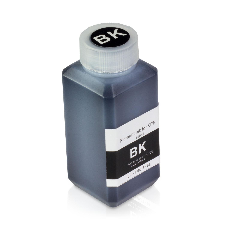 1 Bottle (100ml) Refill Ink - ALLINKTONER Epson Compatible Black Pigment for Epson Printers