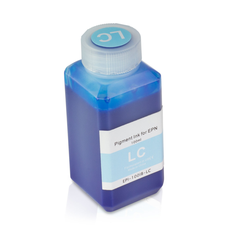 1 Bottle (100ml) Refill Ink - ALLINKTONER Epson Compatible Light Cyan Pigment for Epson Printers