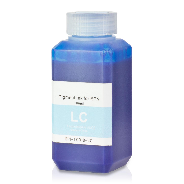 1 PK - Epson Compatible Light Cyan Pigment Refill Ink Bottle 100ML (3.38 fl oz) Bottle + Refill Tool Kit by SOJIINK