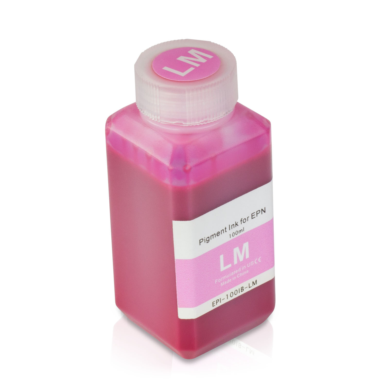 1 Bottle (100ml) Refill Ink - ALLINKTONER Epson Compatible Light Magenta Pigment for Epson Printers
