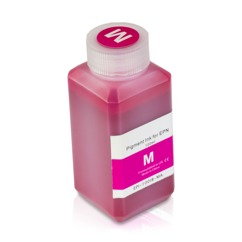 1 Bottle (100ml) Refill Ink - ALLINKTONER Epson Compatible Magenta Pigment for Epson Printers