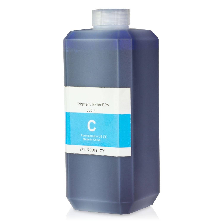 1 PK - Epson Compatible Cyan Pigment Refill Ink Bottle 500ML (16.91 fl oz) Bottle + Refill Tool Kit by SOJIINK