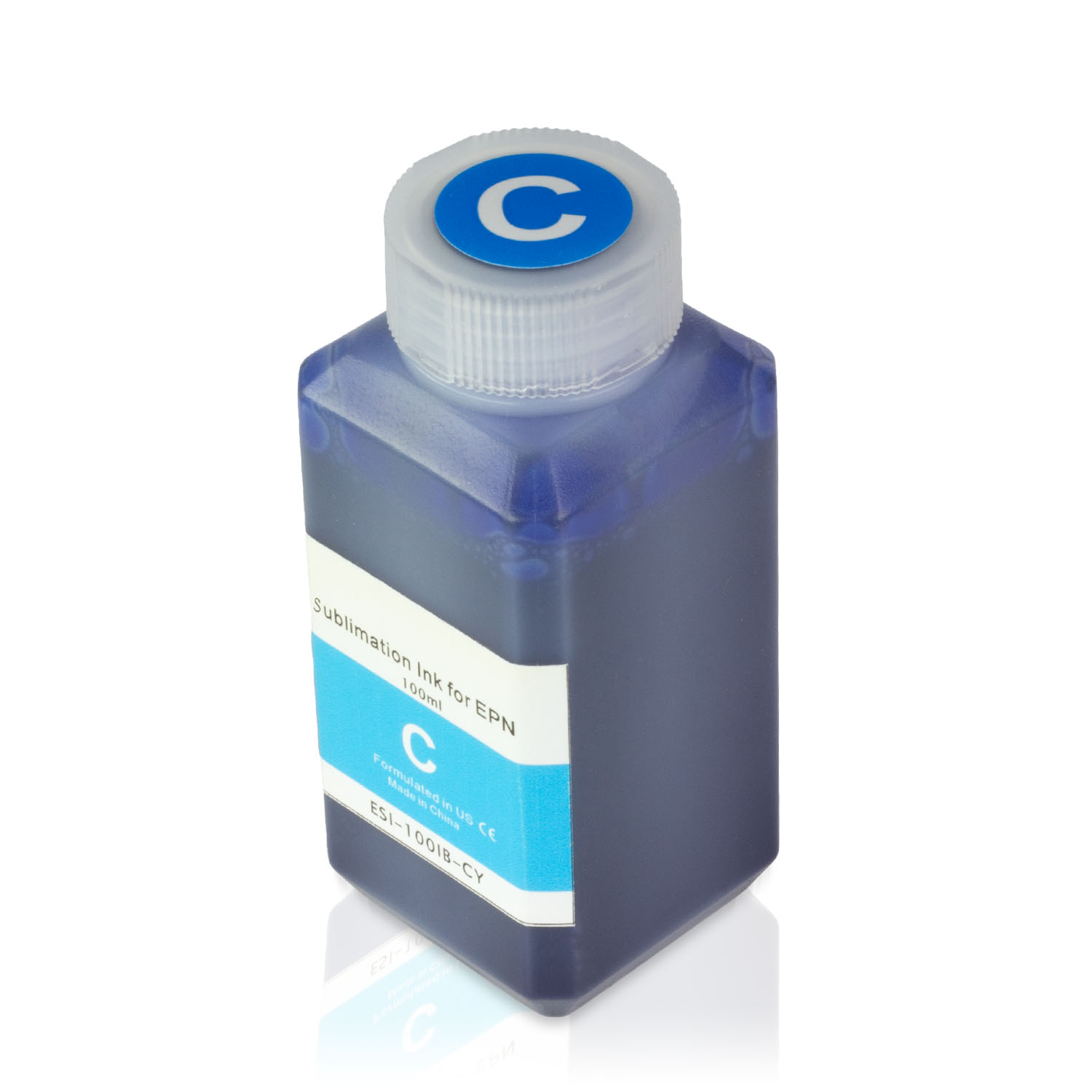 1 Bottle (100ml) Refill Ink - ALLINKTONER Epson Compatible Cyan Sublimation for Epson Printers