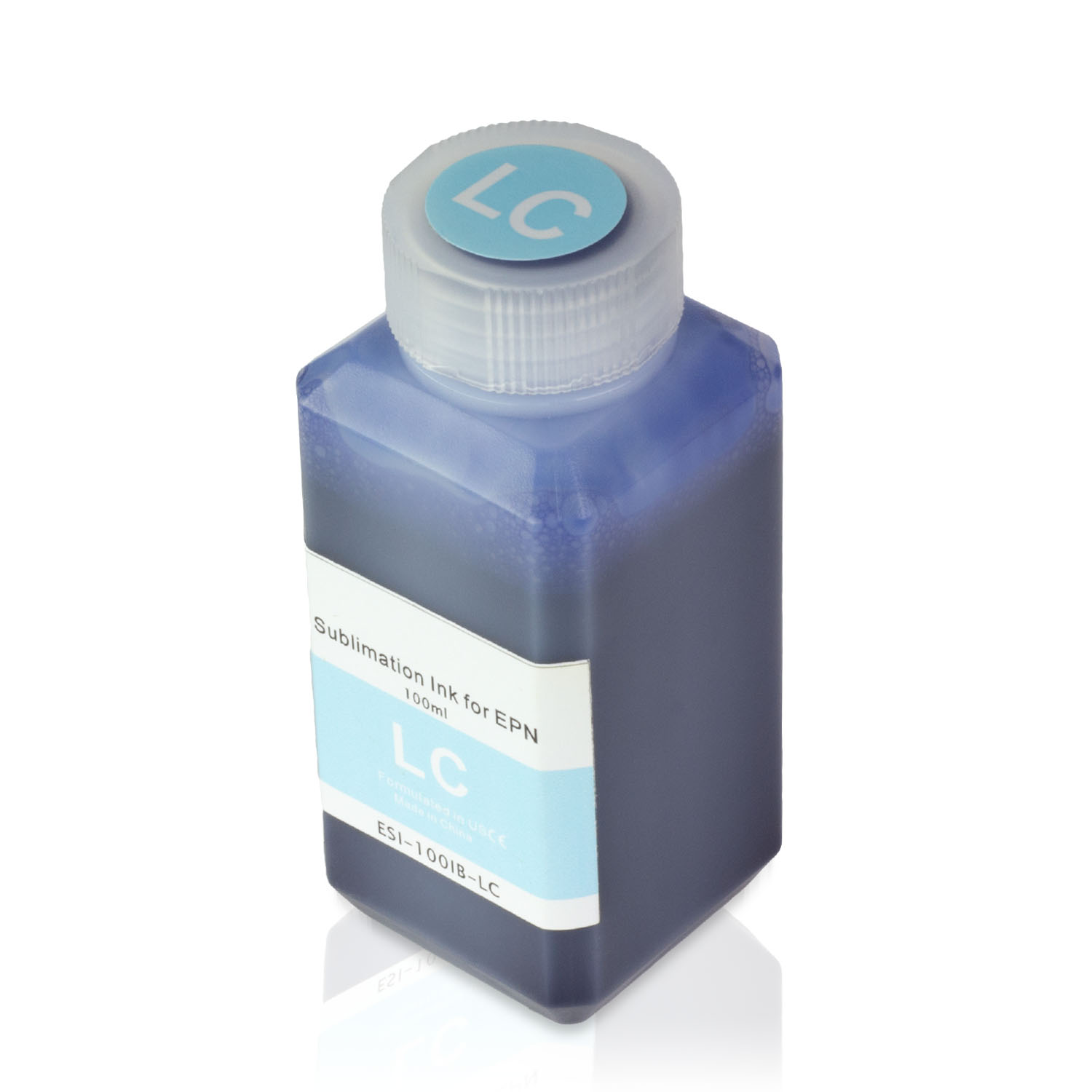 1 Bottle (100ml) Refill Ink - ALLINKTONER Epson Compatible Light Cyan Sublimation for Epson Printers