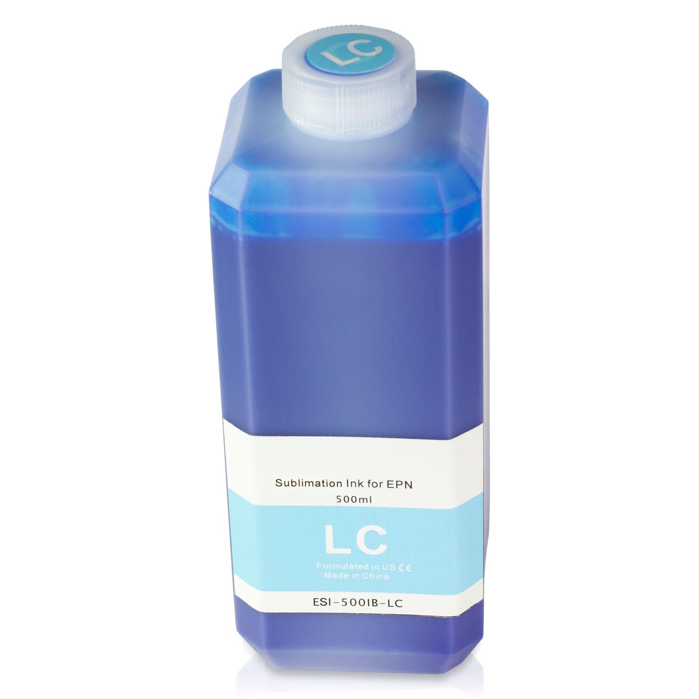 1 PK - Epson Compatible Light Cyan Sublimation Refill Ink Bottle 500ML (16.91 fl oz) Bottle + Refill Tool Kit by SOJIINK