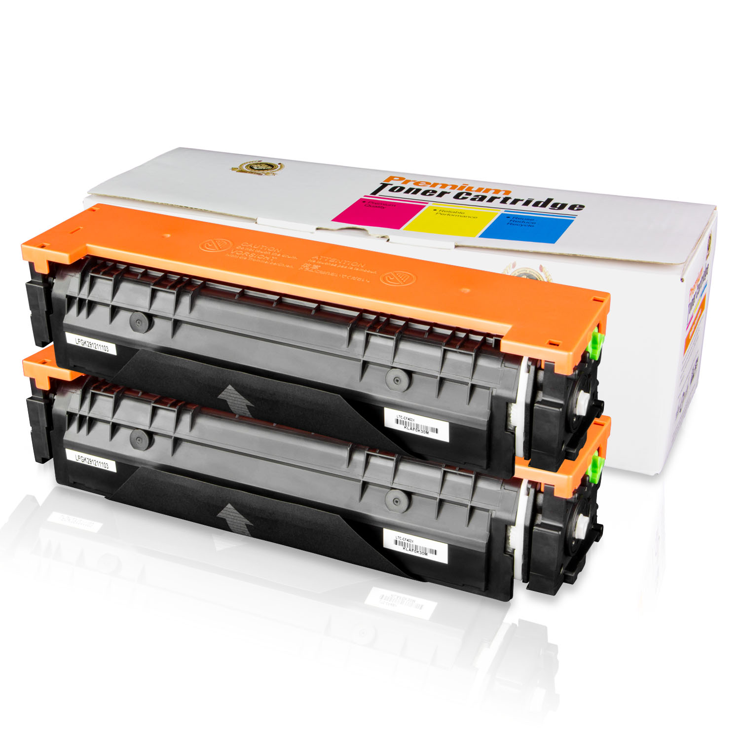 2PK of ALLINKTONER HP Compatible 201X CF402X Yellow LaserJet Toner  Cartridge for HP Color LaserJet M252dw MFP M277dw LaserJet Pro M252n M277n  Laser