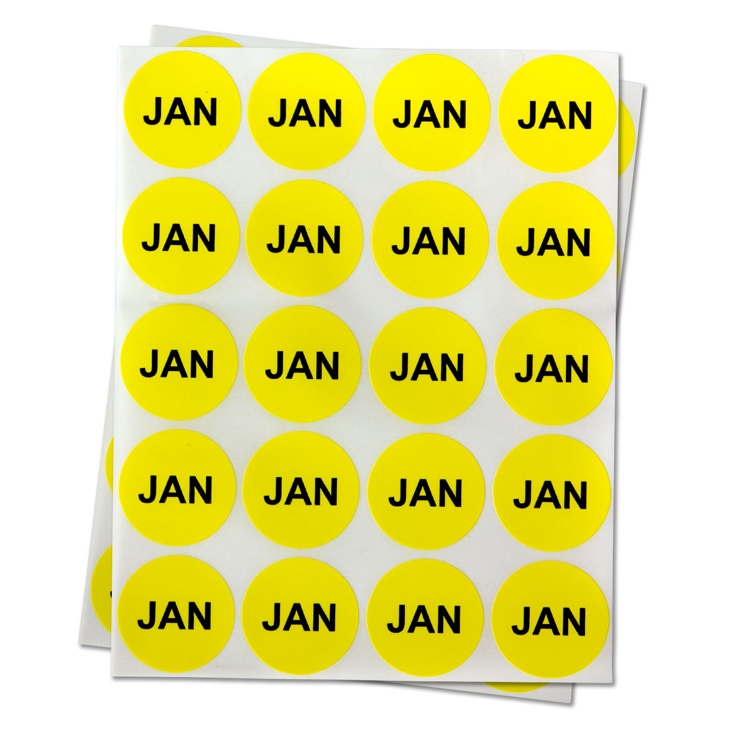 """2/"""", 1PK 1 January Stickers Monthly Yearly Schedule Date Calendar Check Labels"""