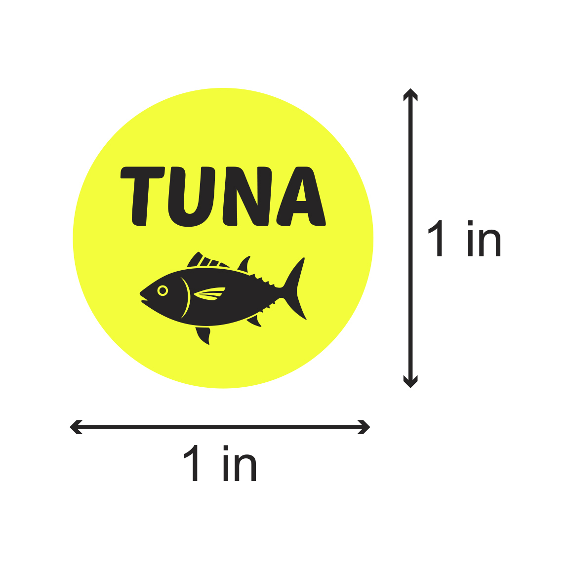 "Shrimp Sticker Labels Food Seafood Restaurant Grocery Supermarket 1/"" x 1/"" Yellow"