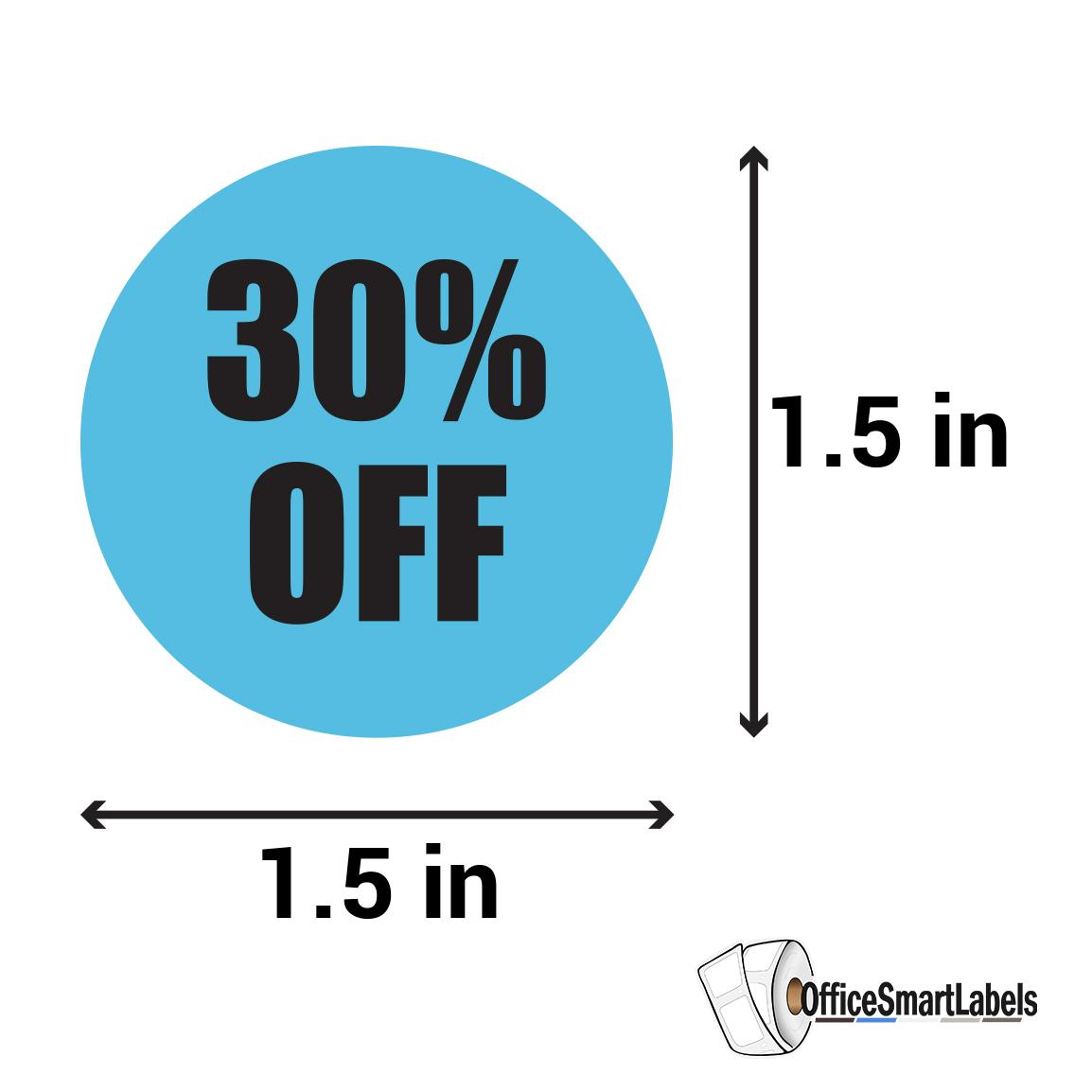 "1.5/""x1.5/"", 4PK Final Sale Sticker Labels No Returns Refunds Price Retail Store"