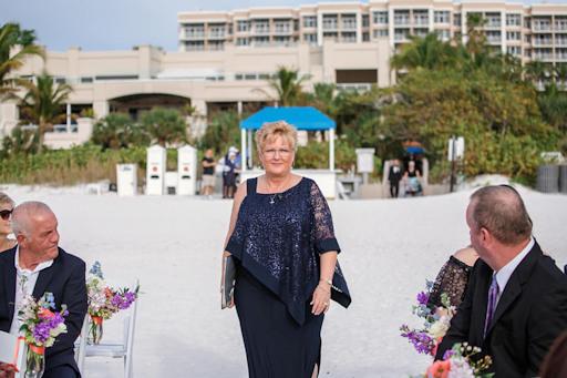 Officiant Bonnie Sanchez outdoors at a wedding ceremony