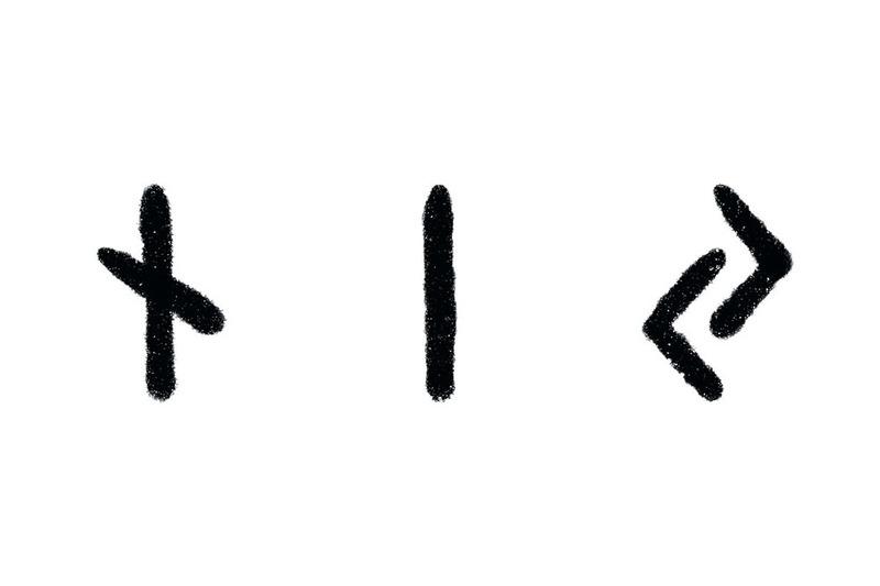 Norse Runes, Nauthiz, Isa, Jera
