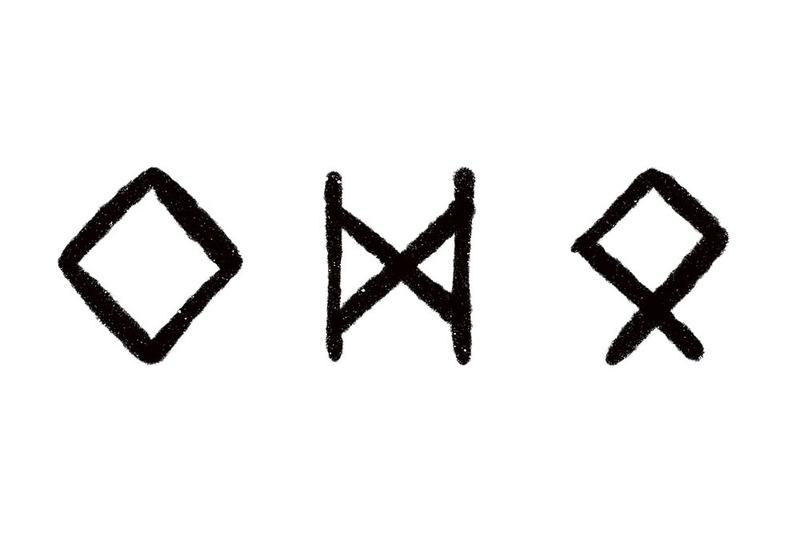 Norse Runes for wedding, Ingwaz, Dagaz, Othila