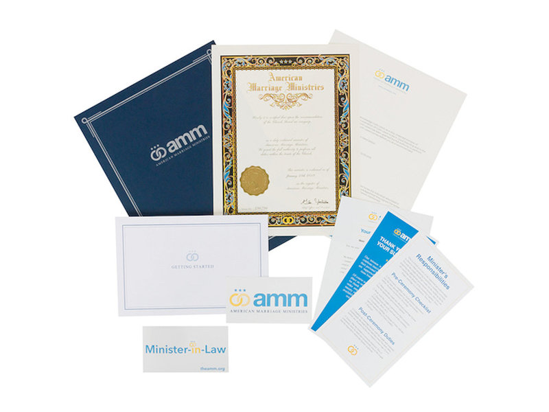 AMM's Minister Ordination Package | theamm.org