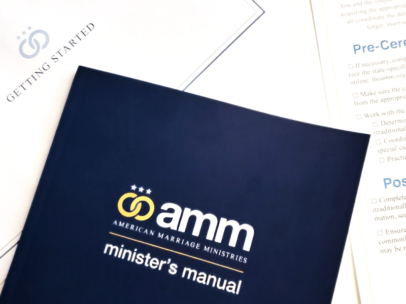 AMM Minister's Manual is a wealth of knowledge for anyone who just got ordained