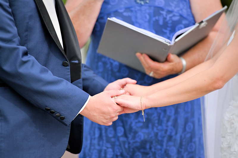 image of wedding officiant, minister, marrying a couple outside, how to officiate, new minister