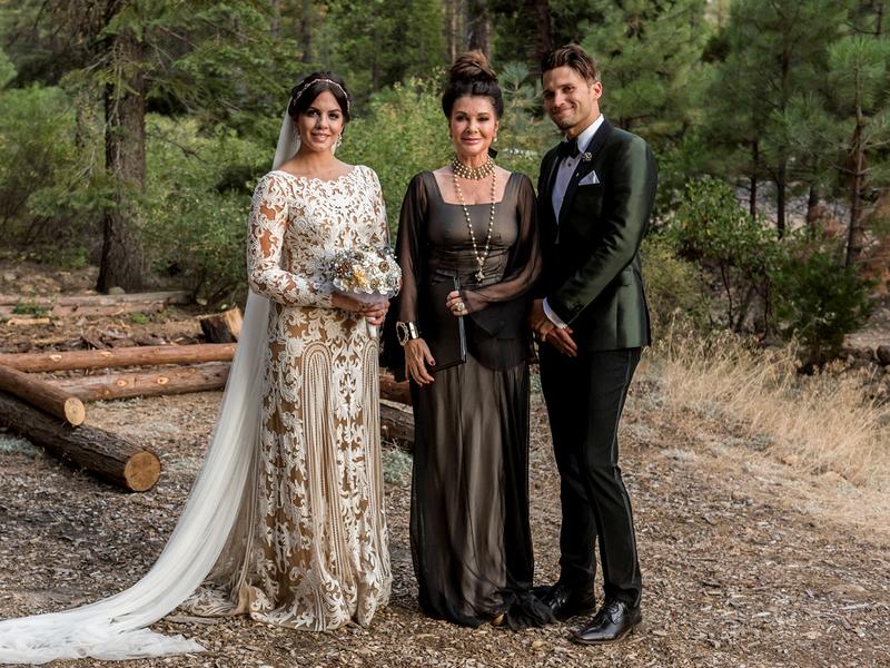 lisa vanderpump, wedding officiant, what to wear