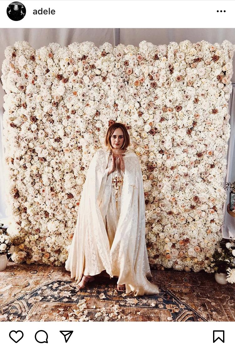 adele marries her best friend, wedding officiant, what to wear, celebrity wedding