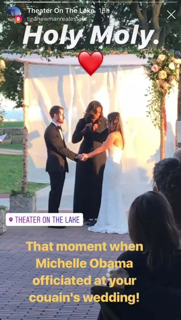 Michelle Obama officiates wedding, what does a wedding officiant wear to perform marriage