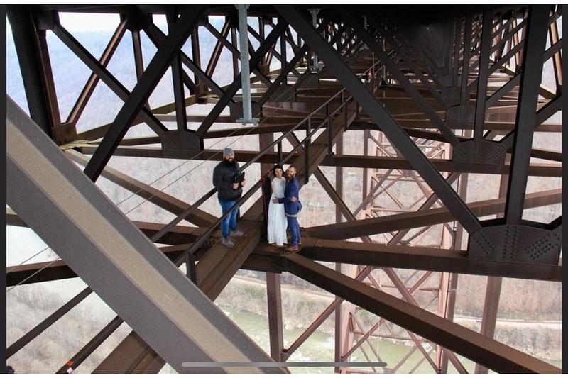 Elopement on the New River Gorge Bridge Walk National Park West Virginia