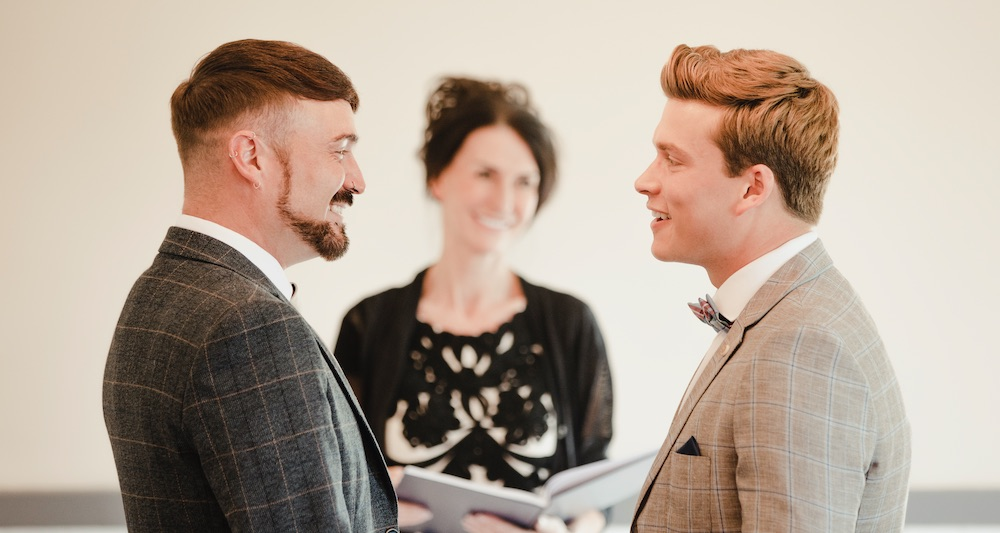 Gay couple officiant