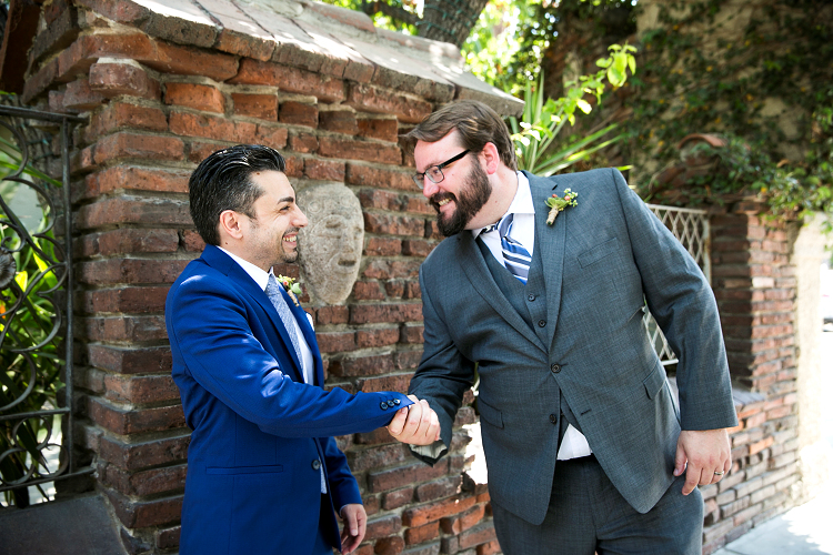Matt McMurphy (right) is a Wedding Officiant, Toast Coach, and Officiant Coach who continues to have a blast building his presence and business while recognizing and celebrating love in the world. [Photo by Jeannie Mutrais]