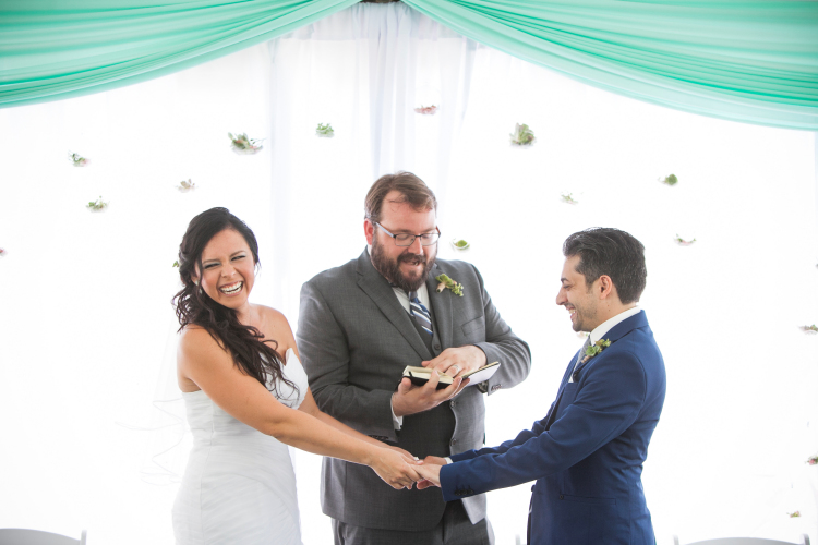 Matt McMurphy (center) is a Wedding Officiant, Toast Coach, and Officiant Coach who continues to have a blast building his presence and business while recognizing and celebrating love in the world. [Photo by Jeannie Mutrais]