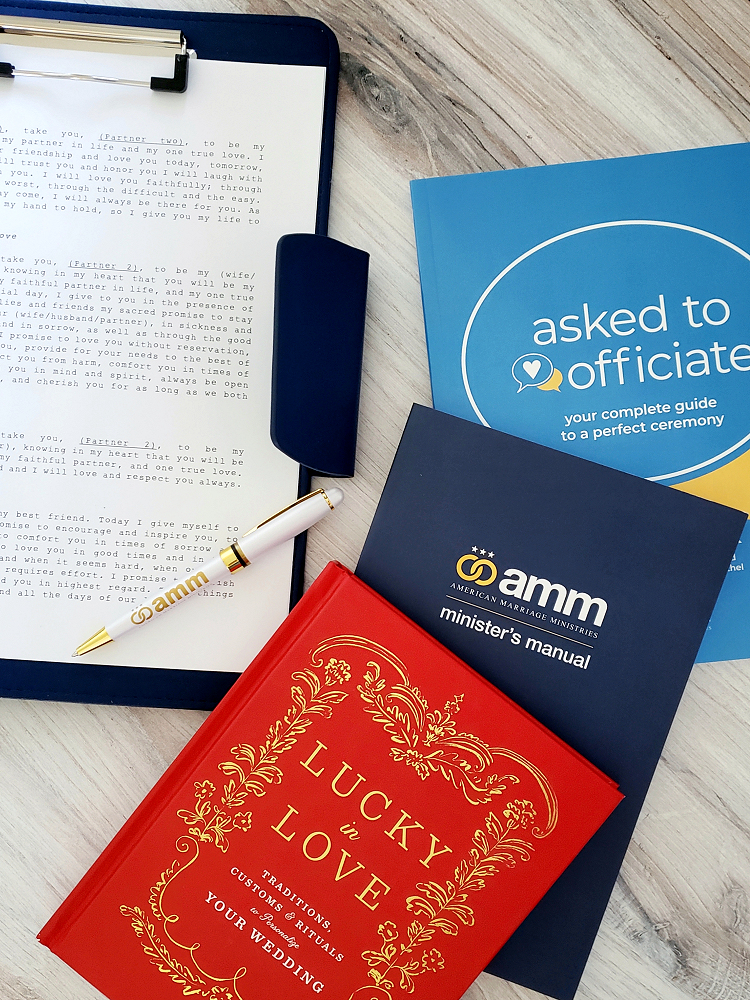 A quick guide to *THE* most popular and recommended AMM products and officiant resources!