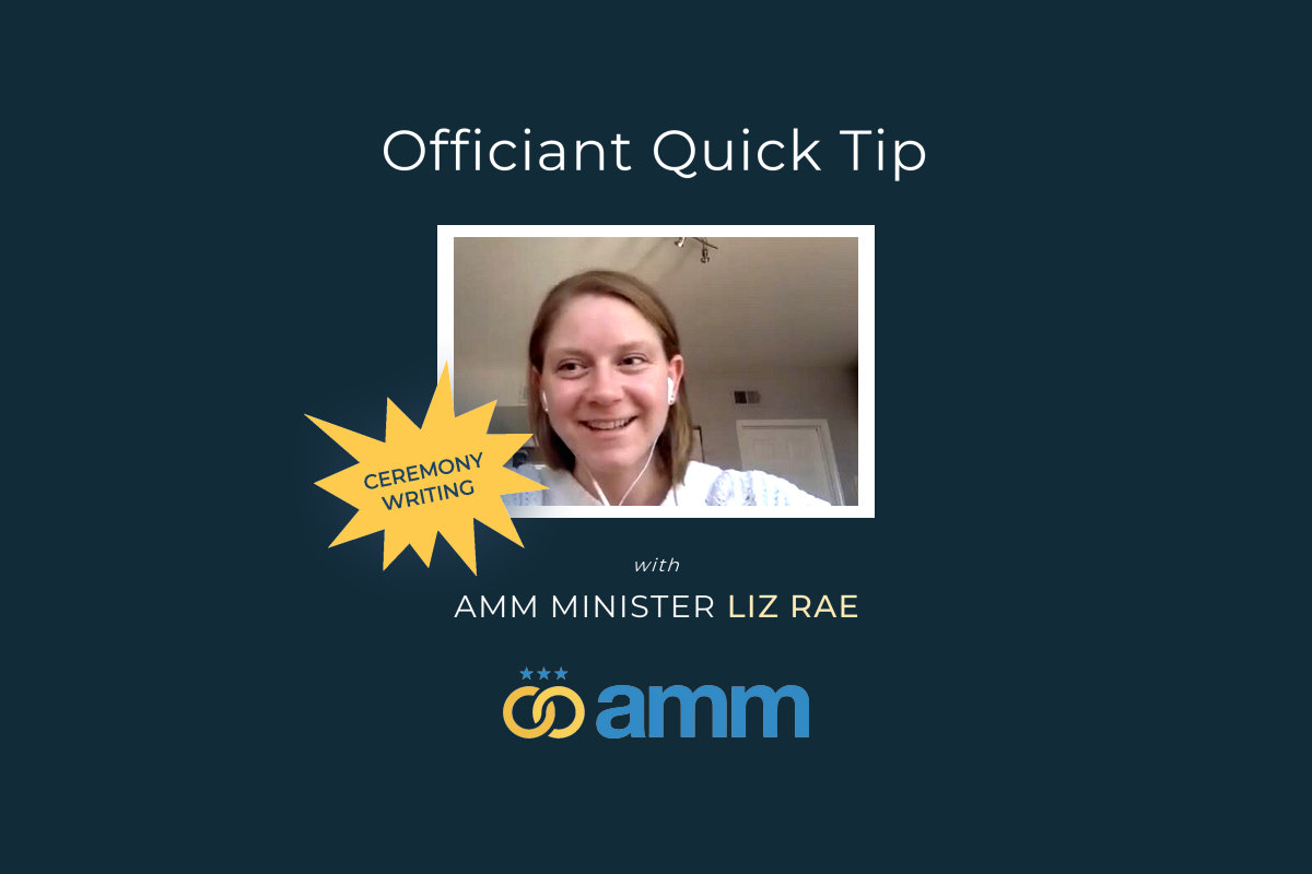 Officiant quick tip   liz rae