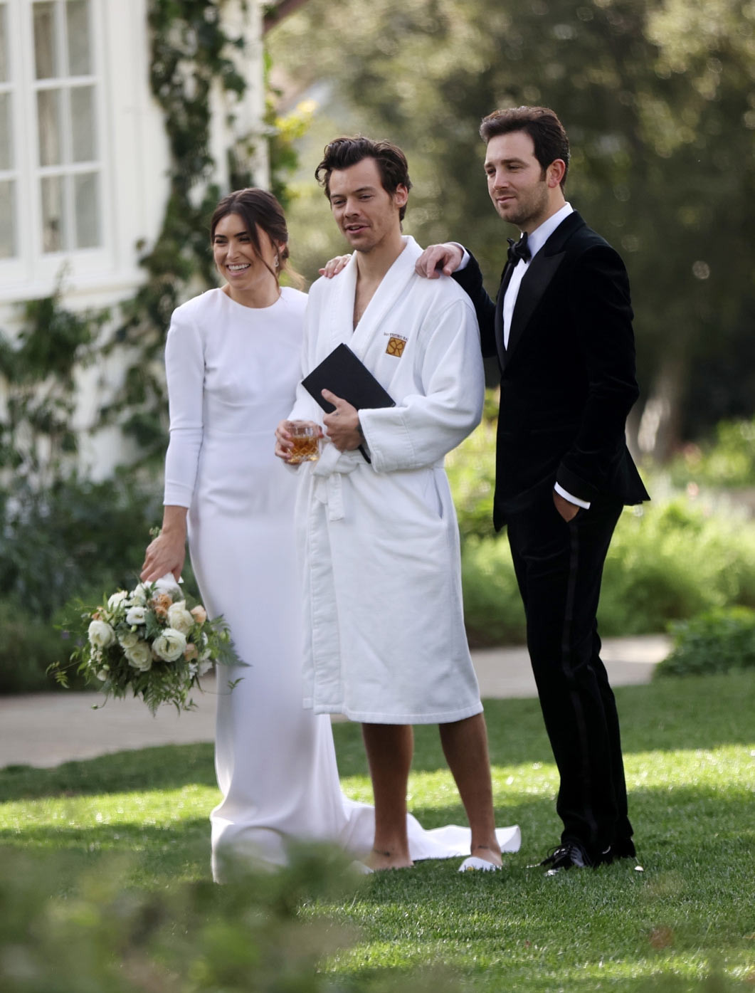 Harry styles pagesix wedding officiant robe