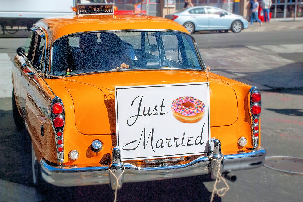 Dunkin donuts valentines day drive thru weddings covid trend