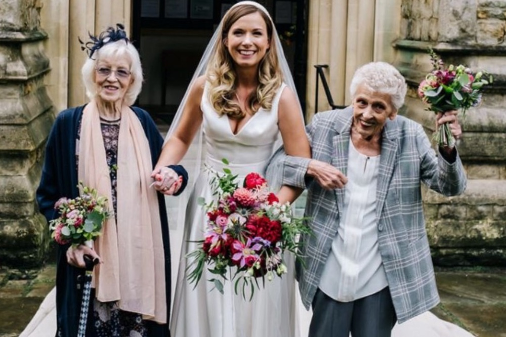 Cover grandmothers asked to be bridesmaids london wedding covid