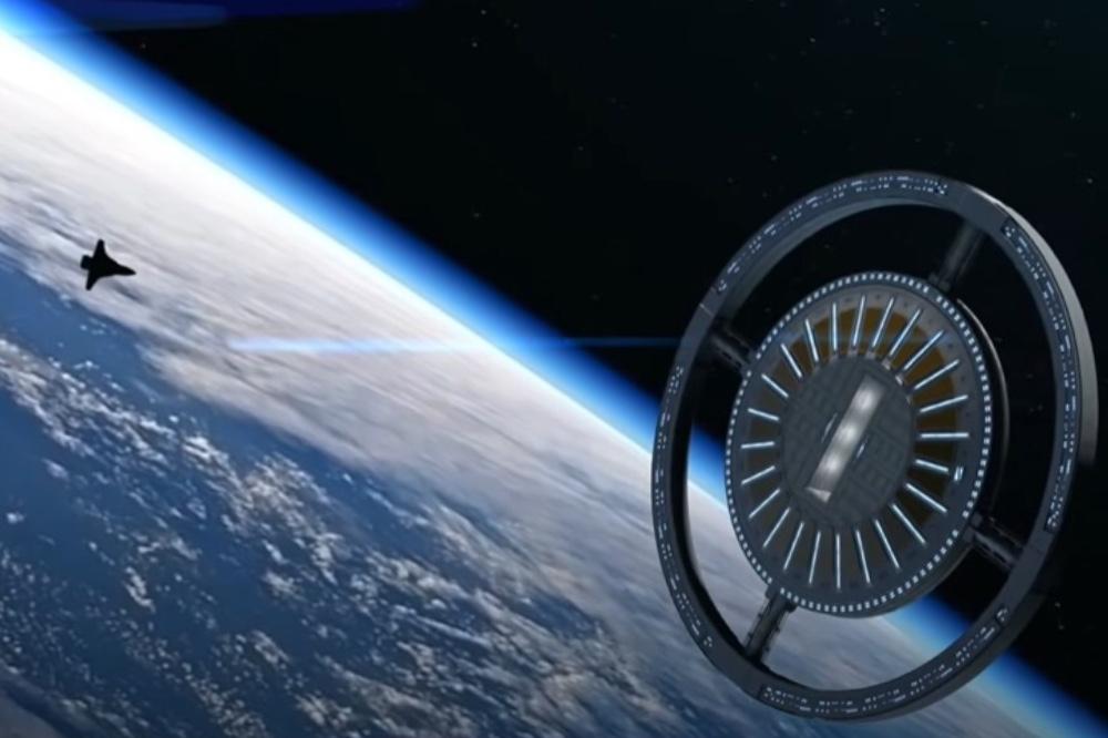 Space hotel voyager station travel honeymoon destination