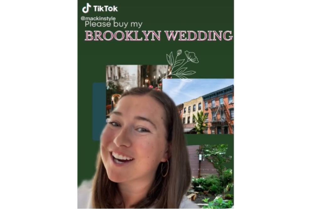 New york bride wedding officiant tiktok brooklyn