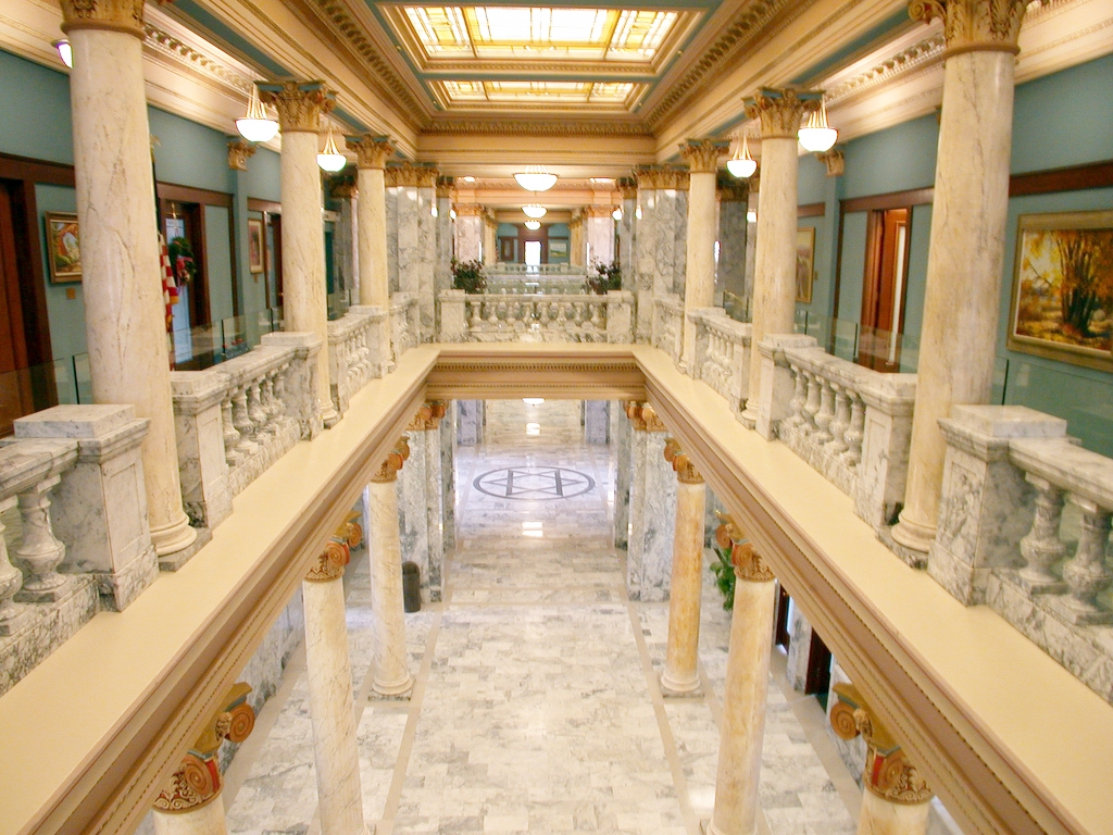 Cover image from the Utah County Courthouse in Provo, Utah