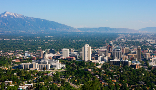 Salt lake county utah marriage laws officiant self solemnizing aerial view