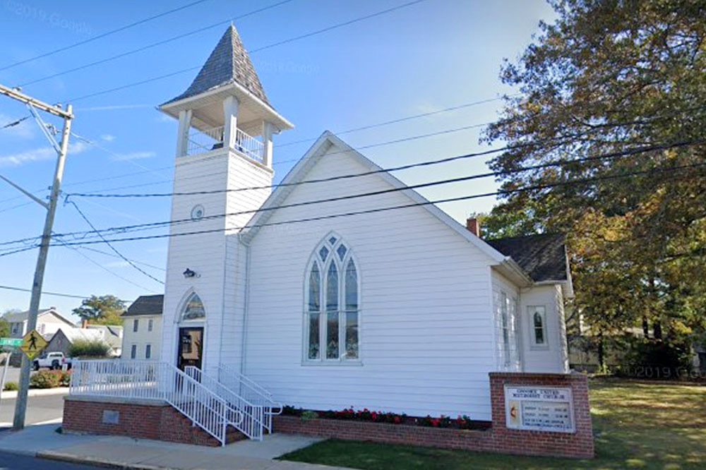A photograph of  Groome Church in Lewes, Delaware, taken from Google's Streetview.